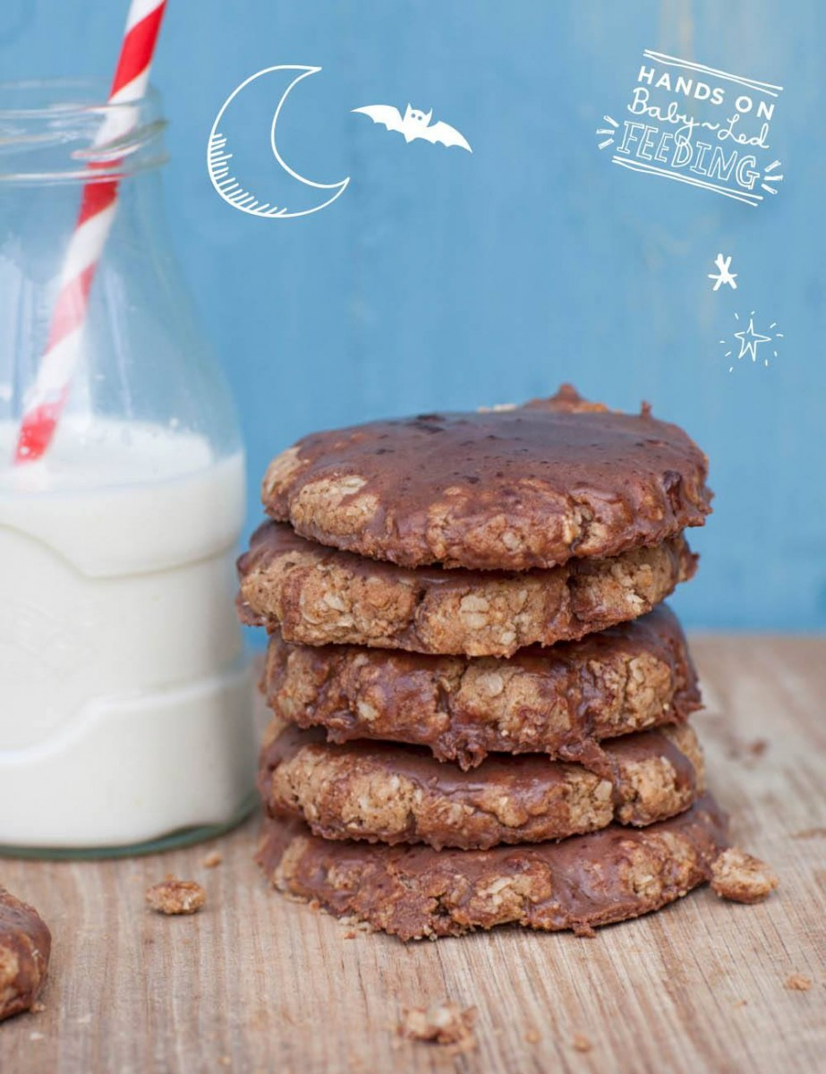 Healthy Coconut And Oat Choccy Cookies
