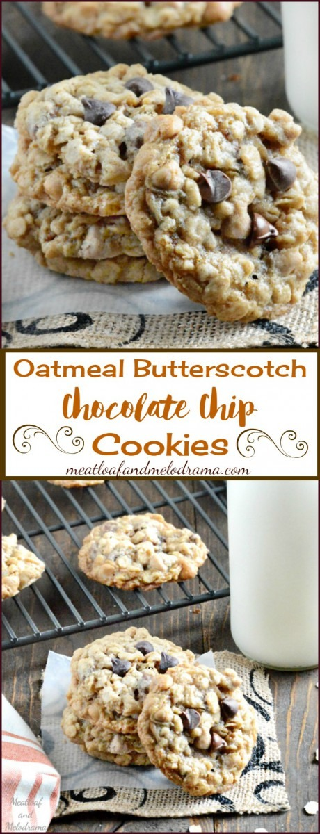 Oatmeal Butterscotch Chocolate Chip Cookies