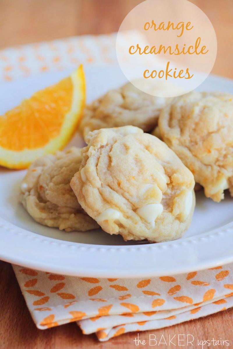 The Baker Upstairs  Orange Creamsicle Cookies