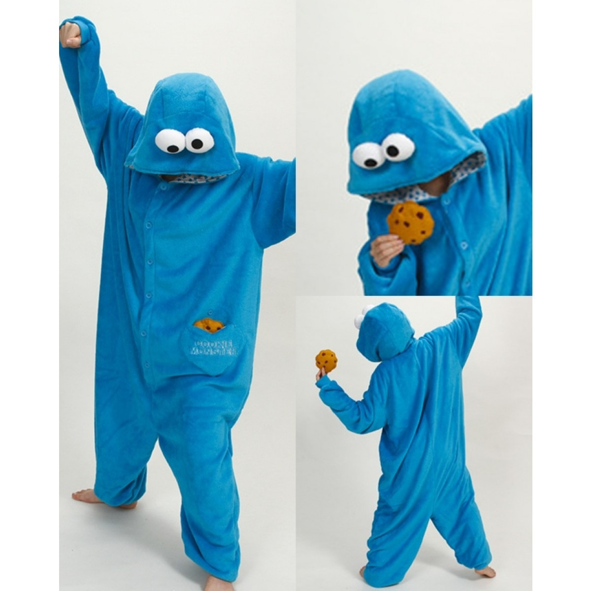 Kigurumi Retail Outlet Sesame Street Cookie Monster Pajamas Animal