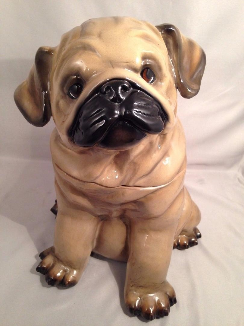 Pug Cookie Jar Big Sky Canine Carvers Design By Phyllis Driscoll