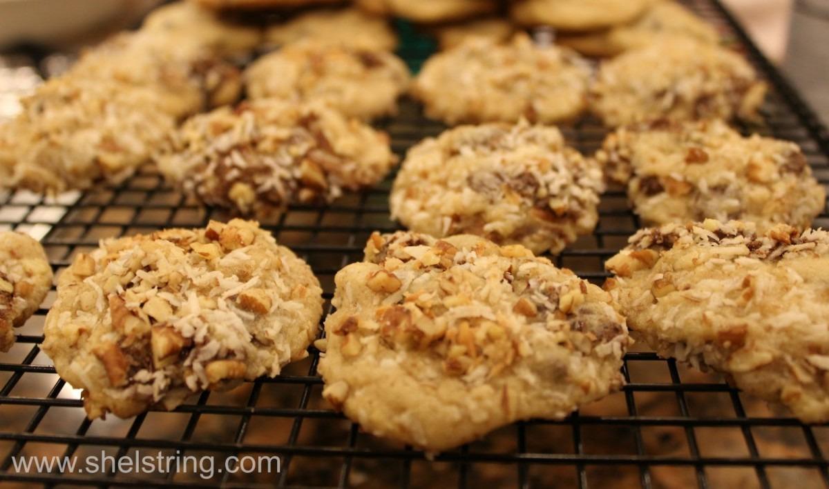 Shelstring Blog  Rolled Coconut Pecan Cookies