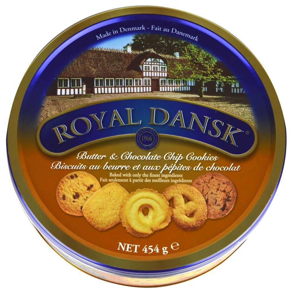 Kelsen Royal Dansk Butter And Choc Chip Cookies, 454 G