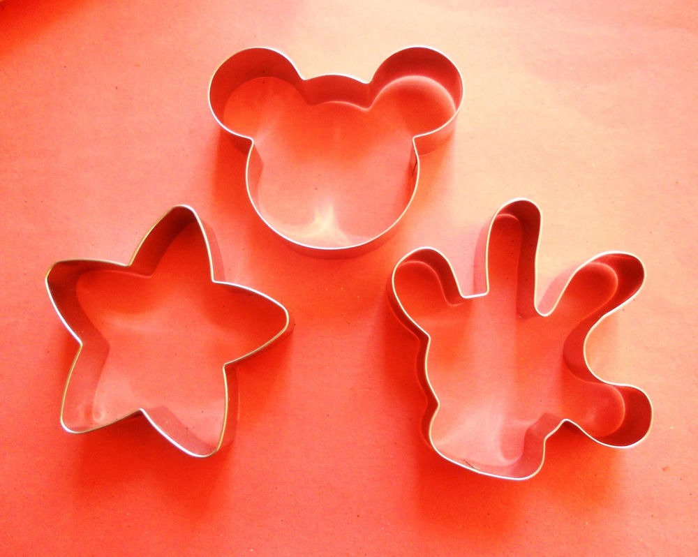 3  Mickey Mouse Body Parts Baking Biscuit Cookie Cutter 3pcs Set