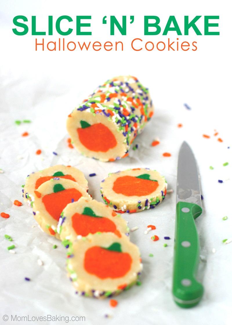 Slice 'n' Bake Halloween Cookies