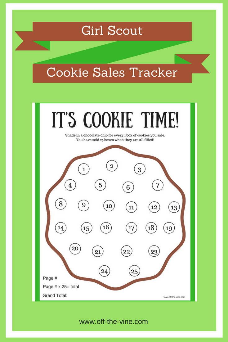 Printable Girl Scout Cookie Sales Tracker
