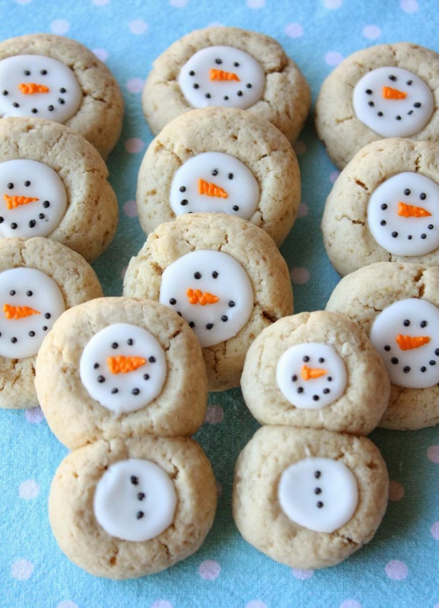 Thumbprint Snowman Cookies Recipe