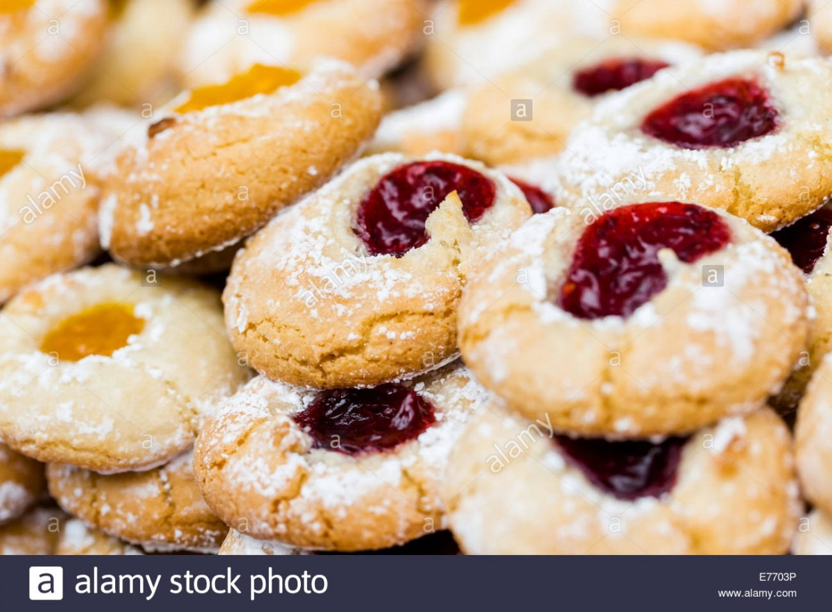 Traditional Italian Cookies In Large Quantaty On Display Stock