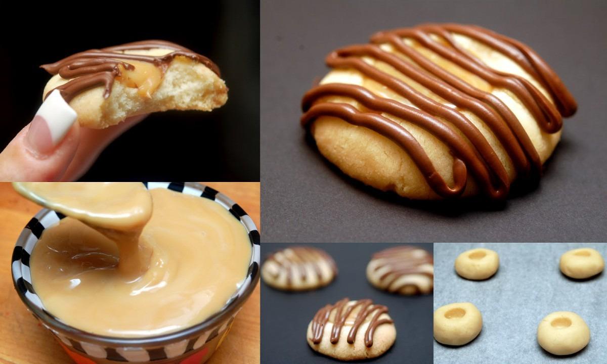 Twix Thumbprint Cookies & A Twix Tart