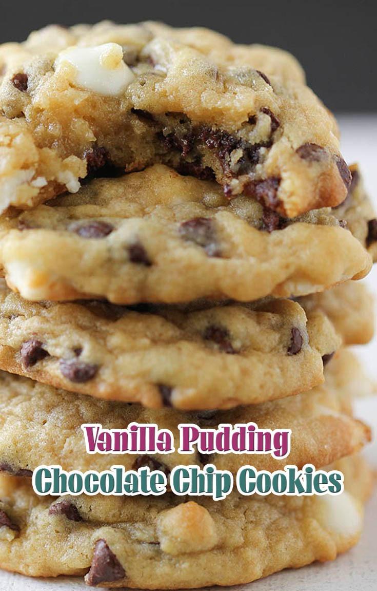 Vanilla Pudding Chocolate Chip Cookies