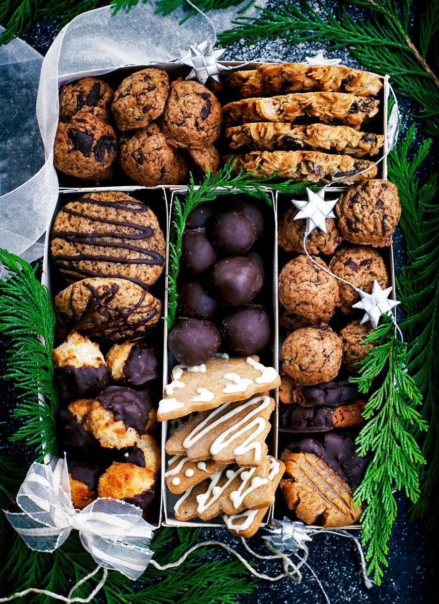 Healthier Holiday Cookie Box