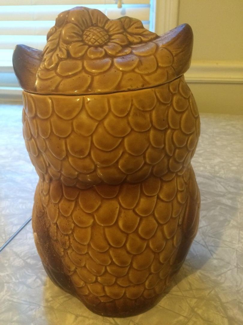 Vintage Owl Cookie Jar