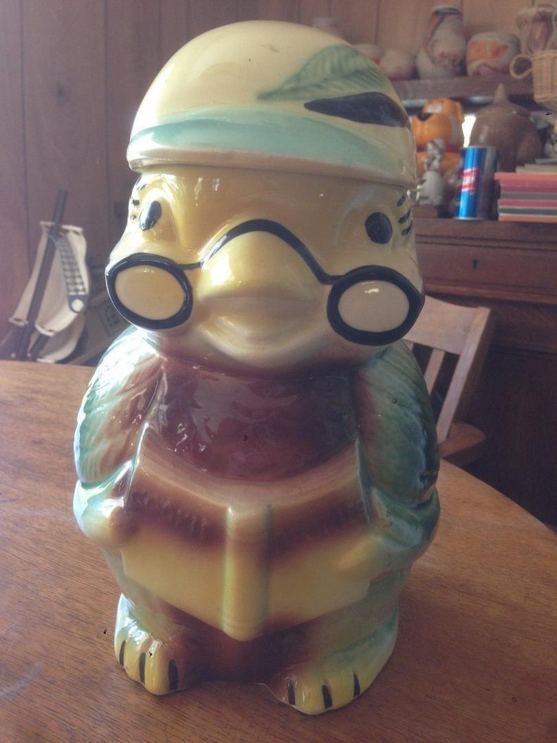 Vintage Owl Cookie Jar Roseville Rrp Cookie Stories Fantastic