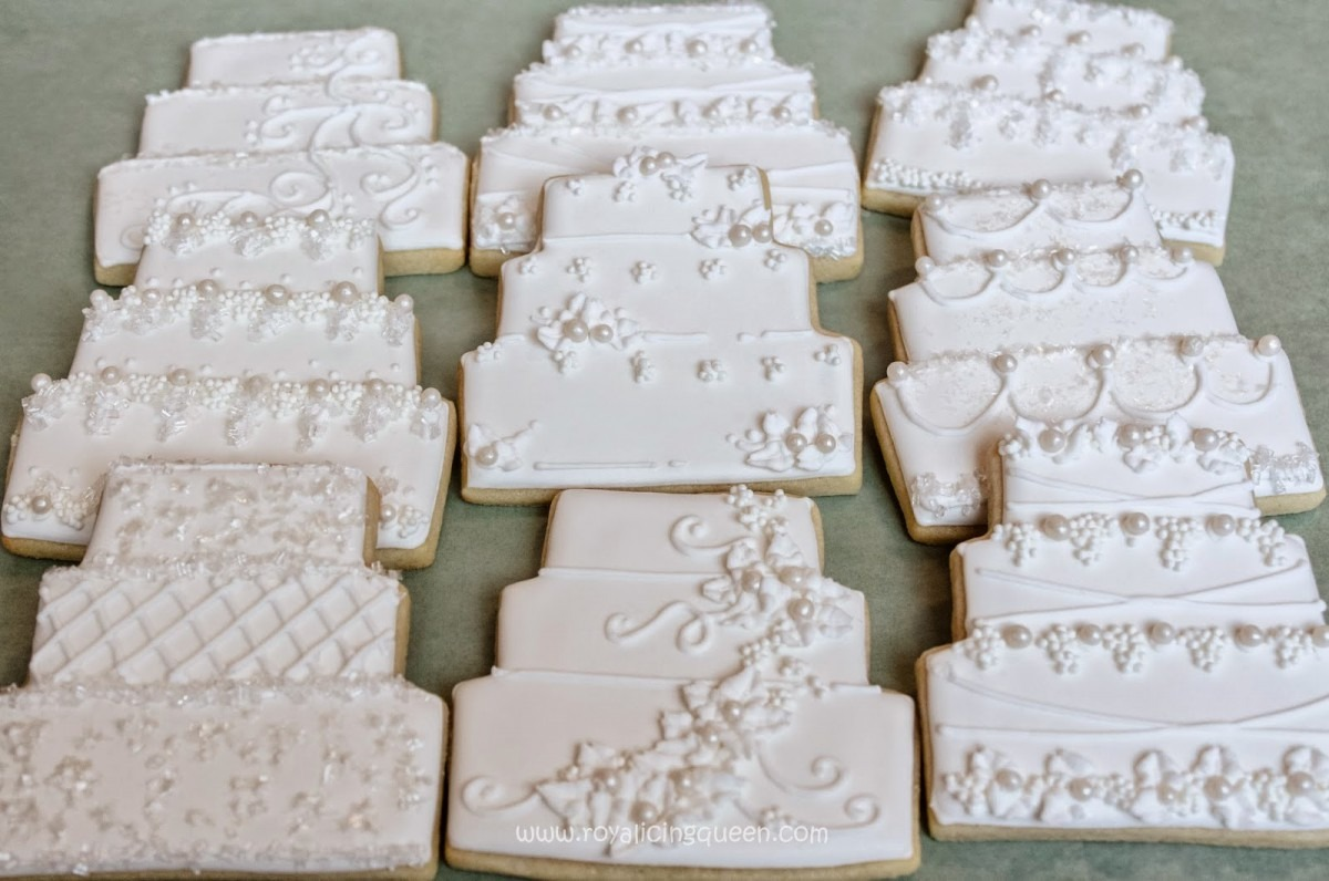 The Royal Icing Queen  Wedding Cake Cookies