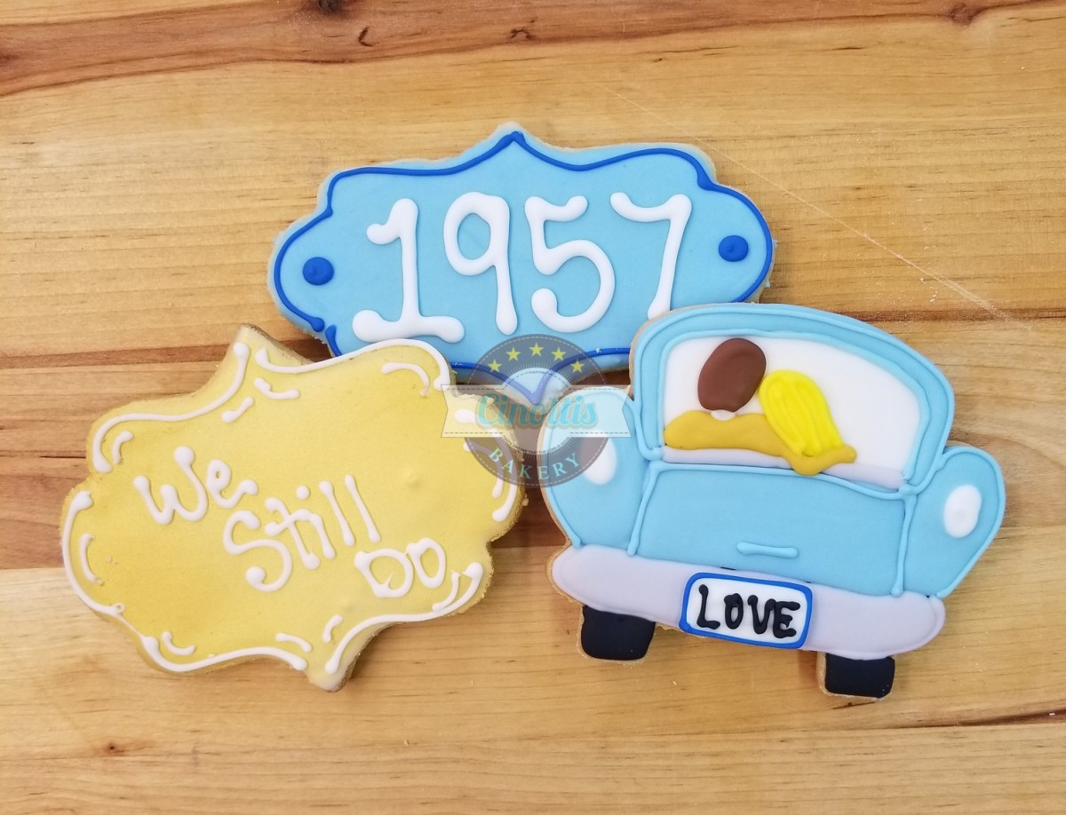 Happy Anniversary Iced Cutout Cookies From Cinotti's Bakery