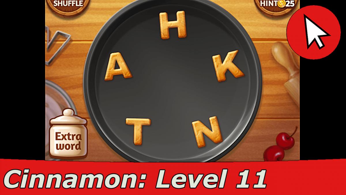 Word Cookies Cinnamon 11 Answers