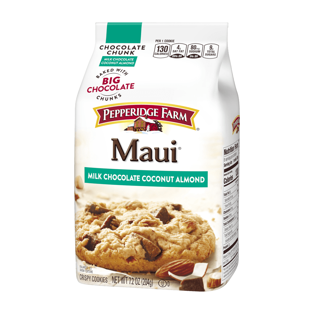 Maui Crispy Milk Chocolate Coconut Almond Cookies