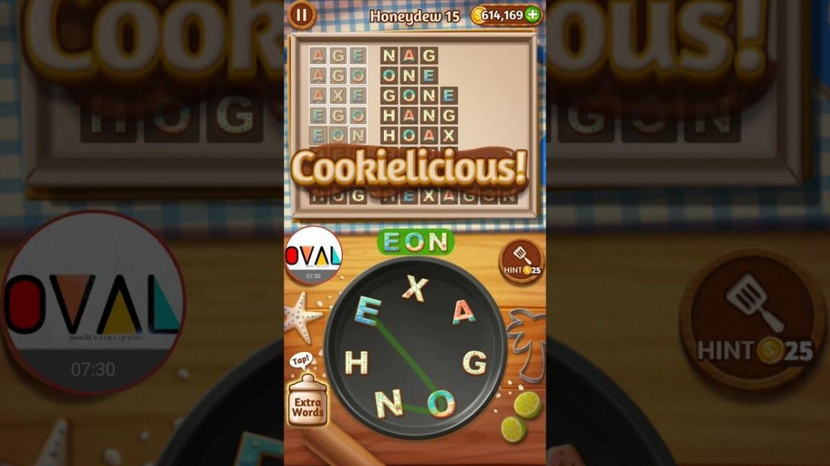 Word Cookies Honeydew Level 10 11 12 13 14 15 16 17 18 19 20  Oval