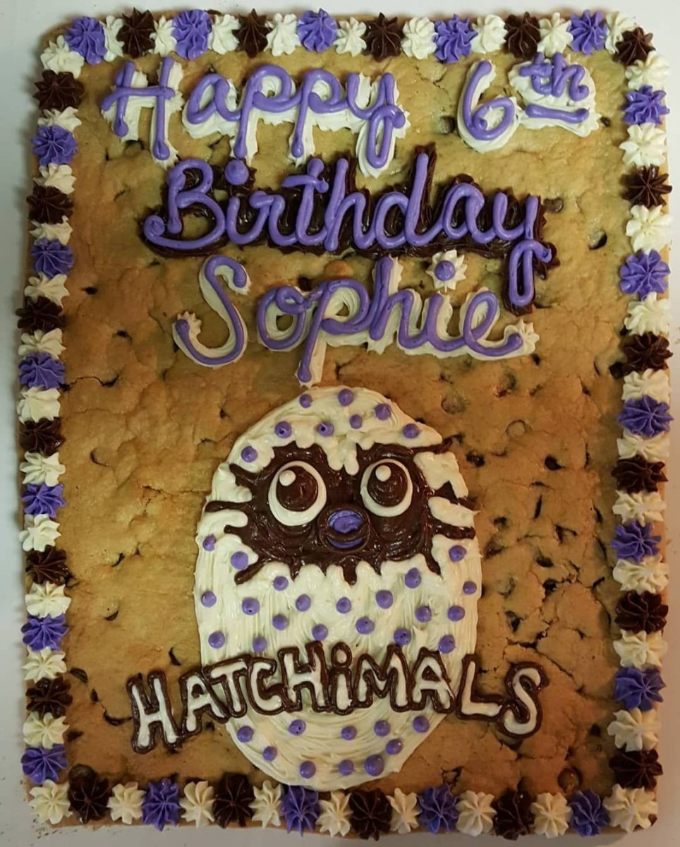 Hatchimal Cookie Cake For A Family Birthday Party  Free Delivery