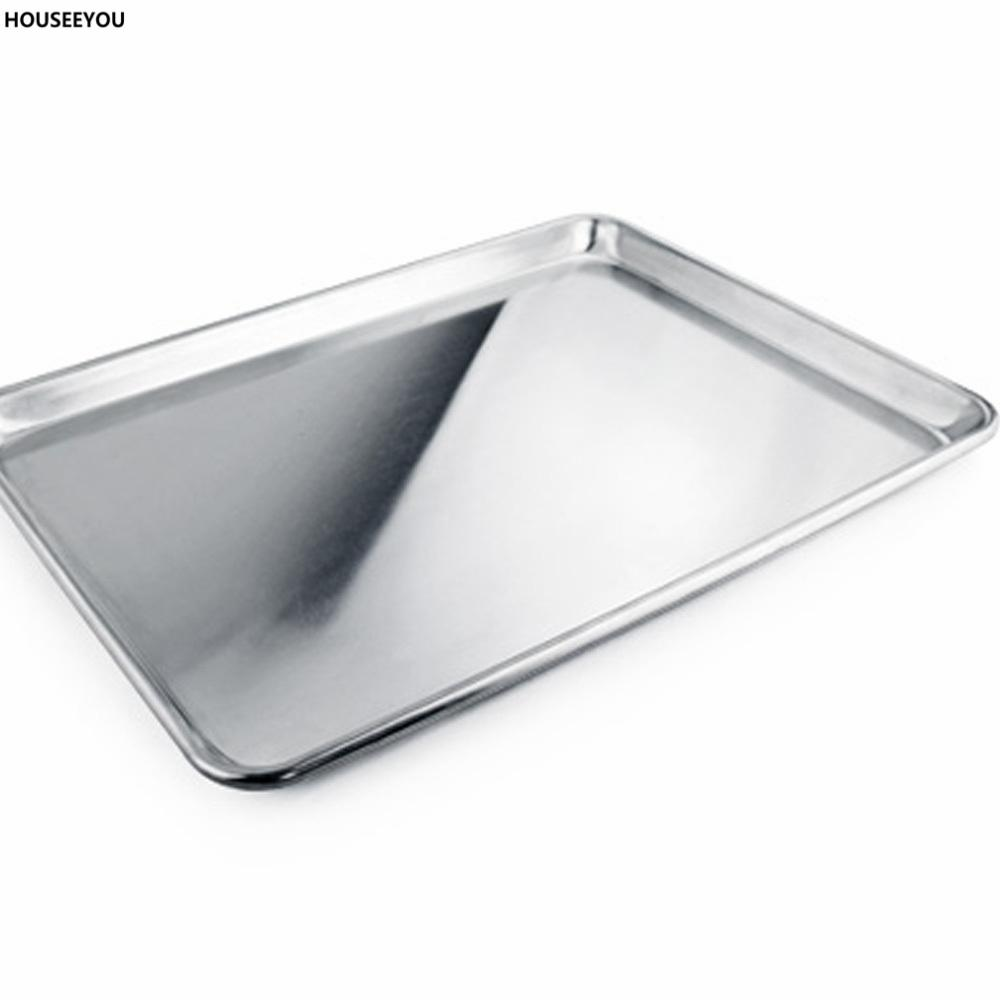 2019 457 660 25mm Cookie Sheet Edged Shallow Baking Pan Tray