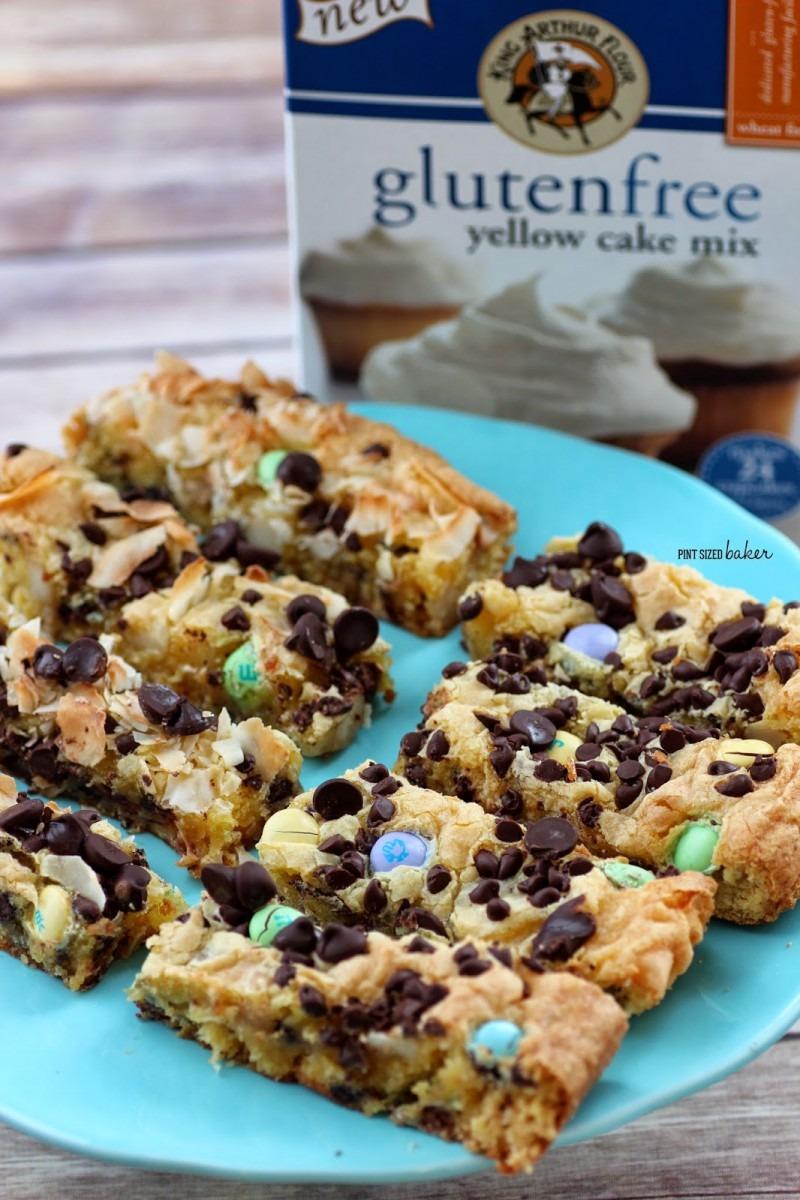 Gluten Free Cake Mix Cookie Bars