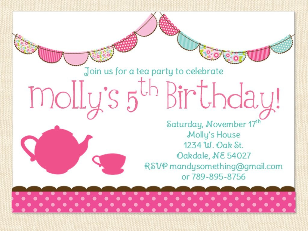1st Birthday Invitations For Girls — Birthday Invitation Examples