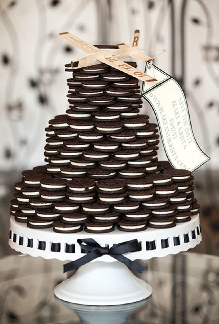 Stacked Oreo Cookie Wedding Cake