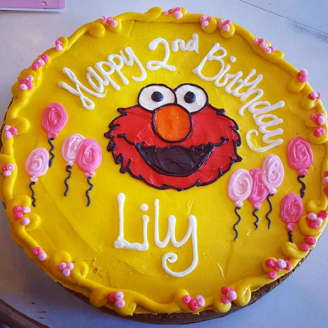 Elmo Buttercream Cookie Cake By Hayleycakes And Cookies In Austin