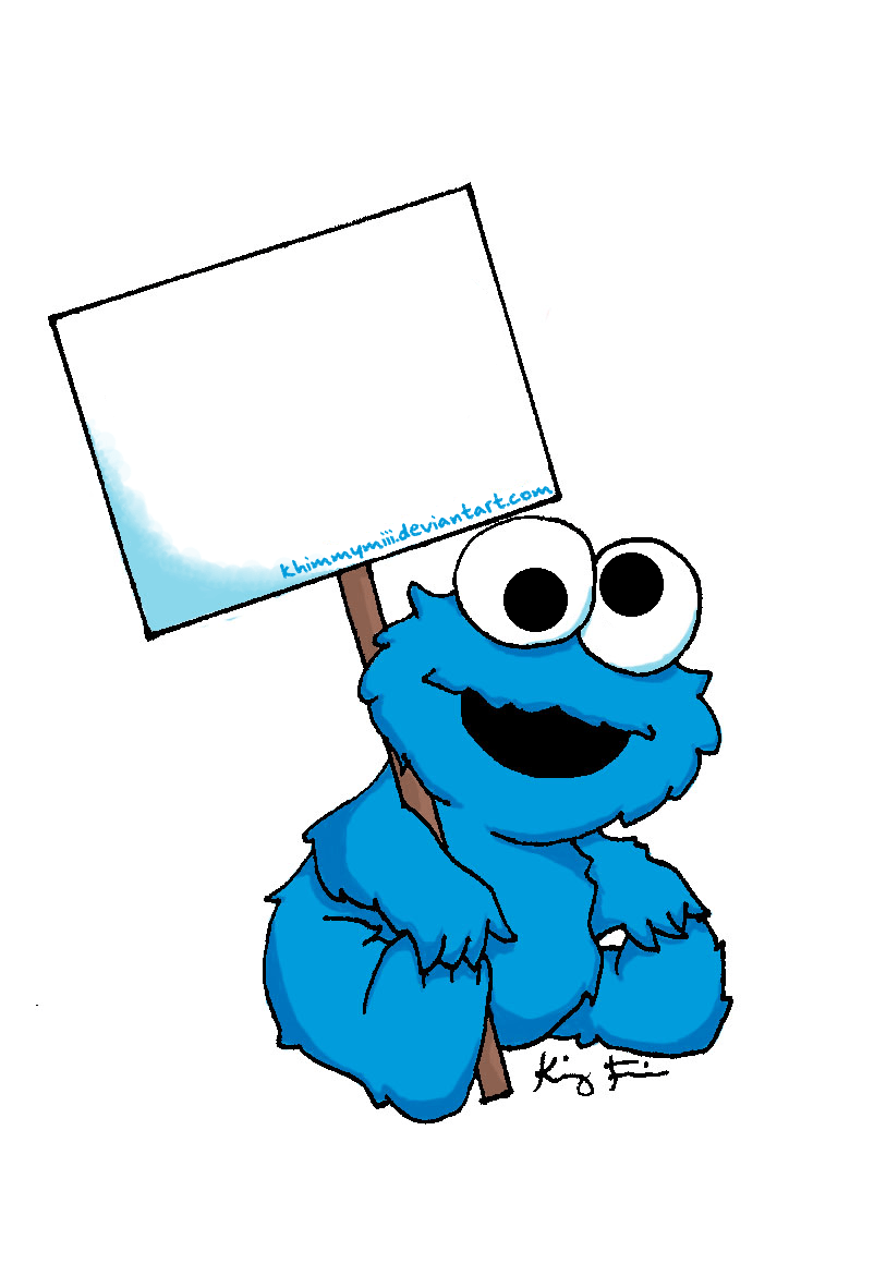 Baby Cookie Monster Sign By Khimmymiii Deviantart Com On