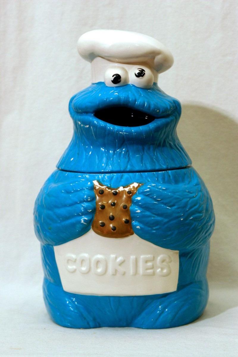 Vintage Cookie Monster Cookie Jar Muppets Inc Sesame Street Jim