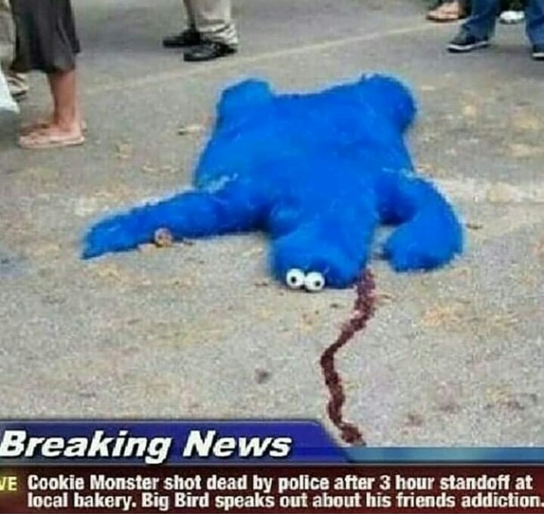 R I P Cookie Monster