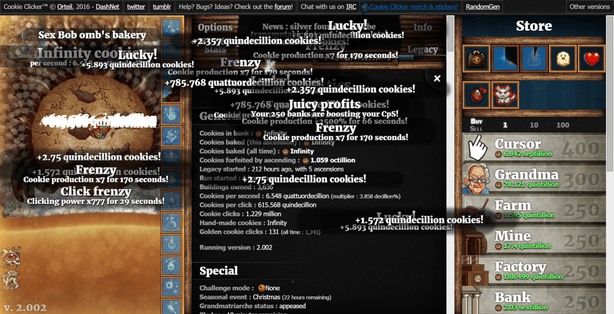Uncanny Cookie Clicker Chrome Addon Glitch  Do Not Recommend Using