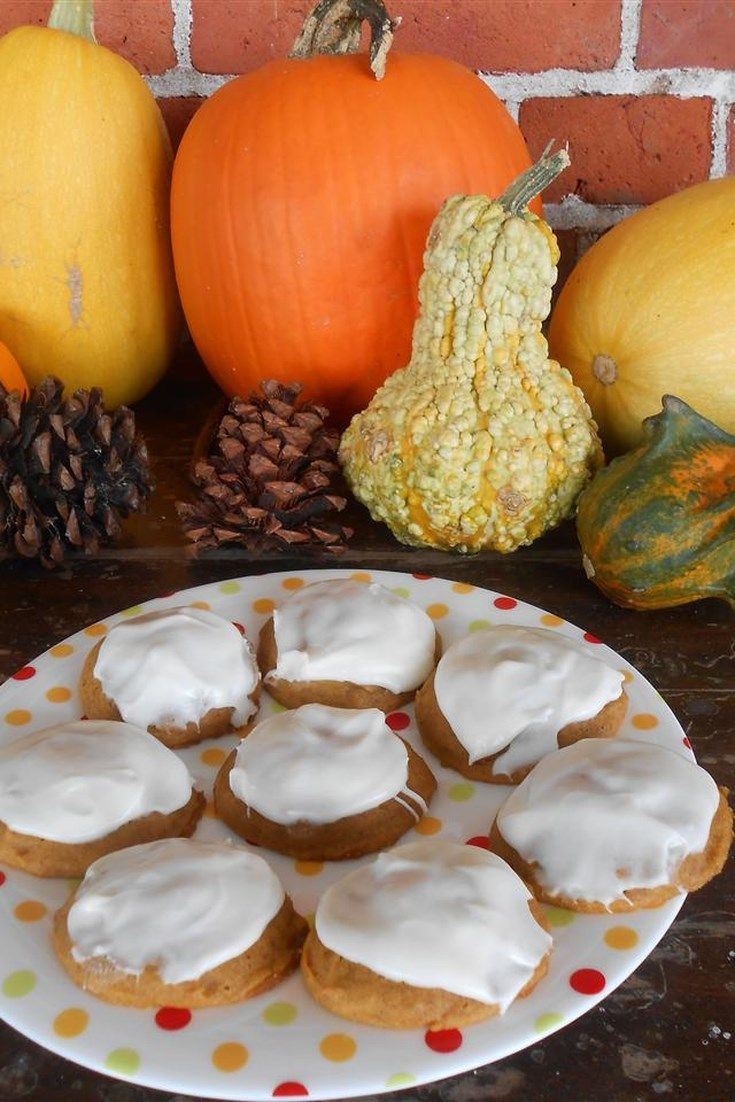 Pumpkin Cookies With Cream Cheese Frosting (the World's Best