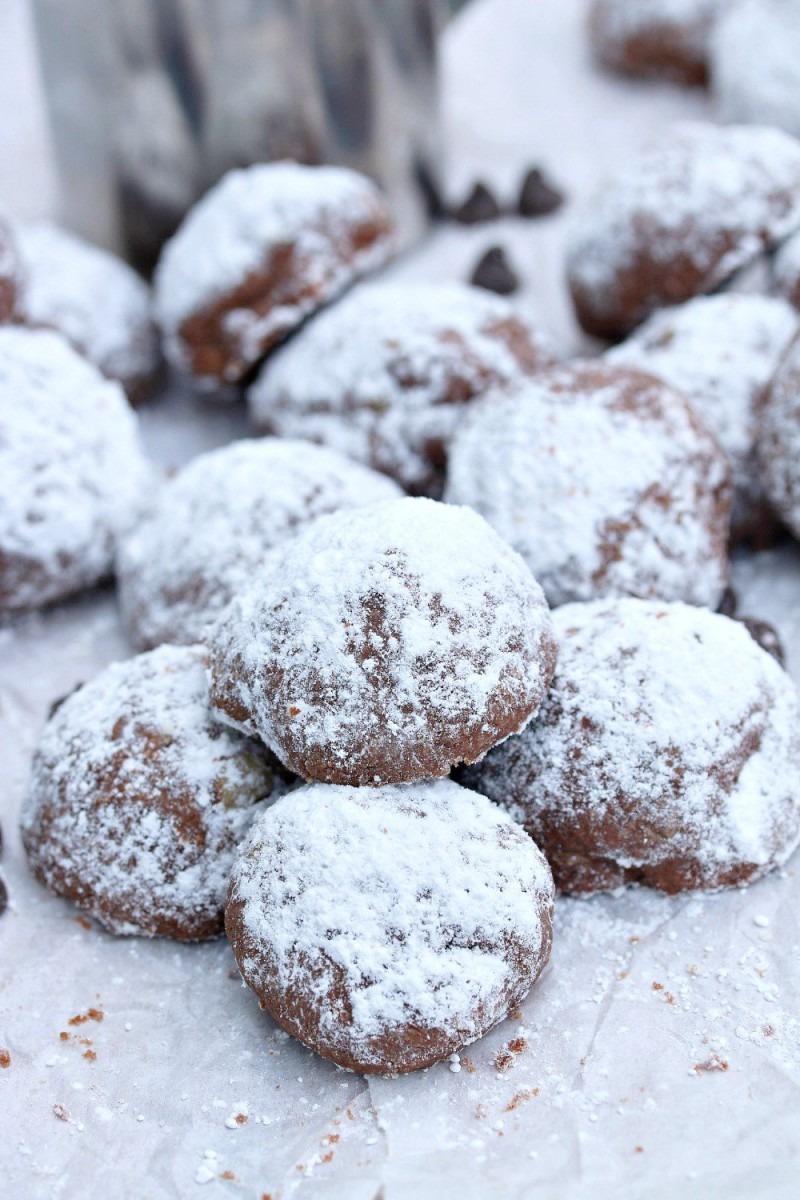 Chocolate Espresso Snowball Cookies