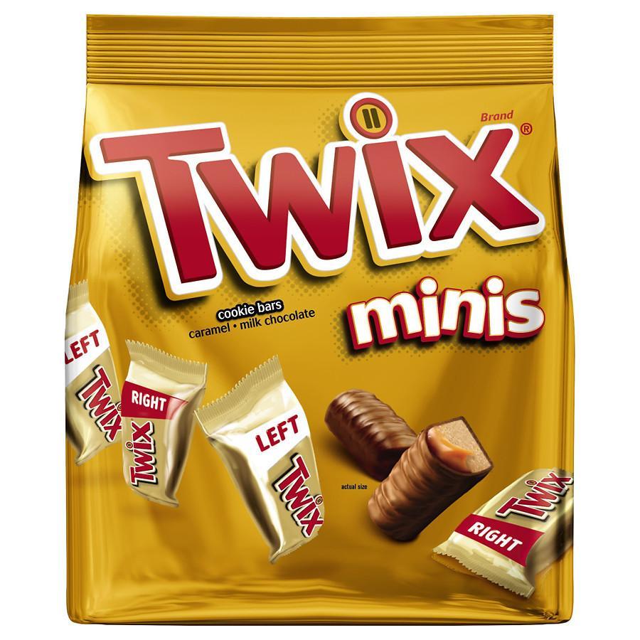 Twix Caramel Minis Size Chocolate Cookie Bar Candy Bag