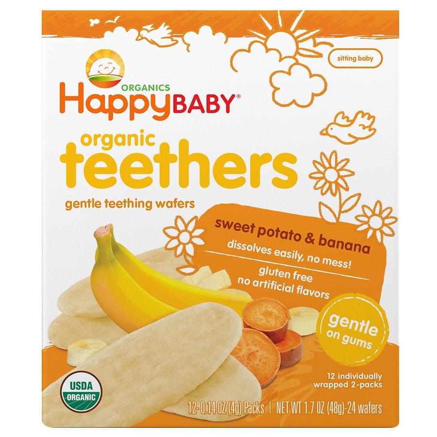 Happy Baby Gentle Teethers Organic Teething Wafers Banana & Sweet