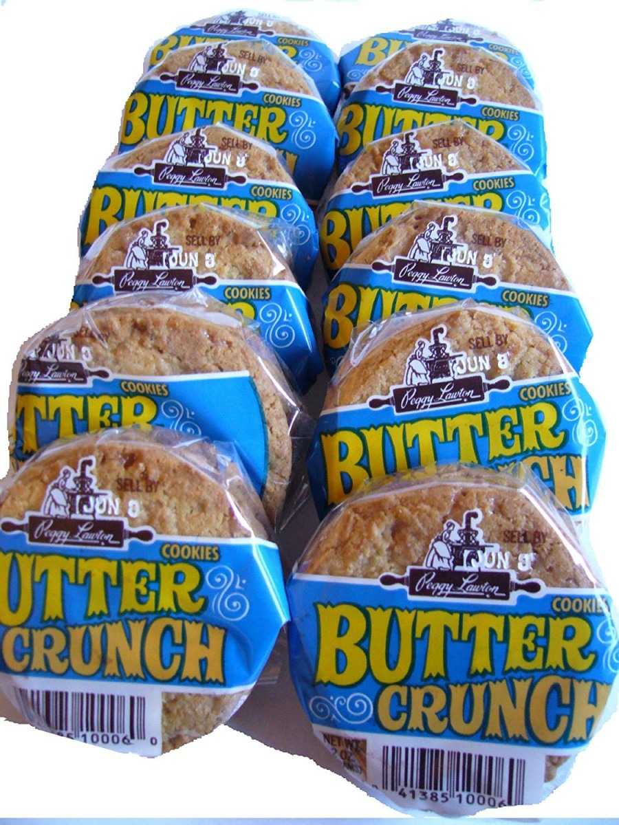 Peggy Lawton Butter Crunch Cookies 12 Pack