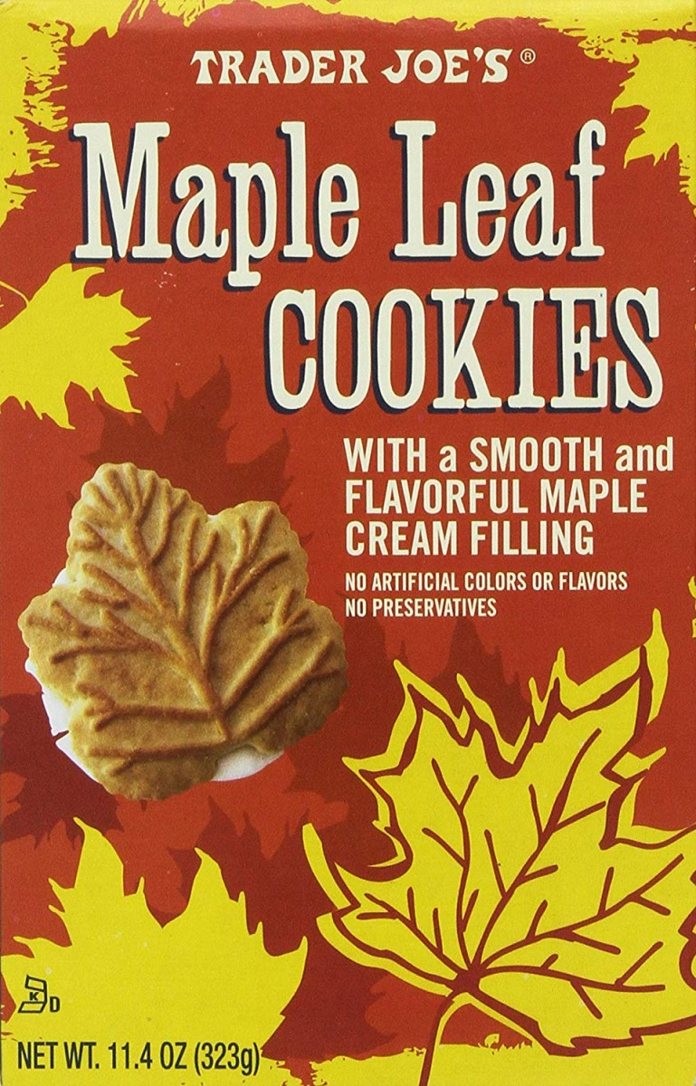 Amazon Com  Trader Joe's Maple Leaf Cookies, Net Wt  11 4oz(323g)