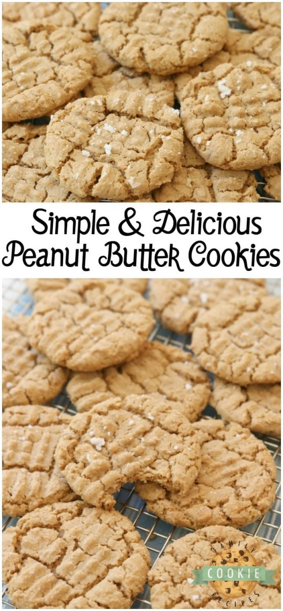 Easy Peanut Butter Cookies Made With Just A Handful Of Ingredients