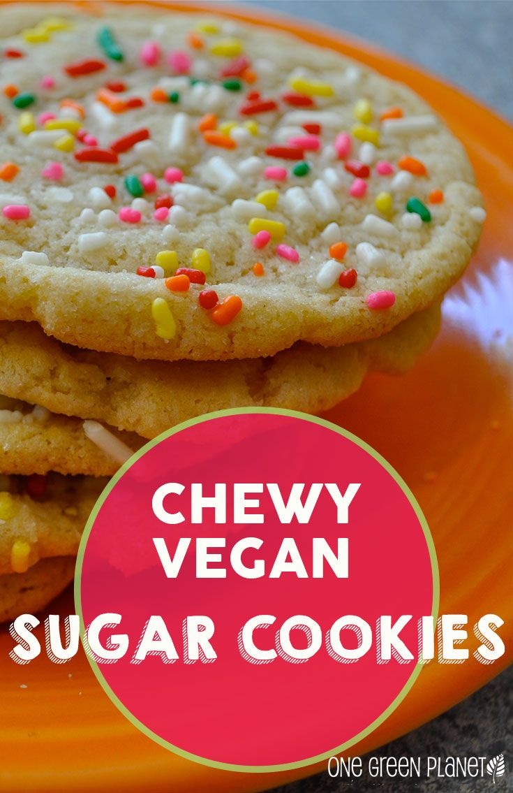 Chewy Sugar Cookies [vegan]