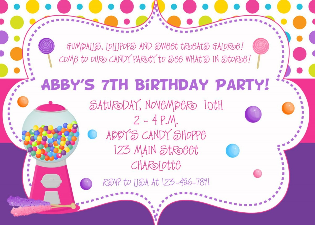 Birthday Party Invitations With A Attractive Invitations Specially