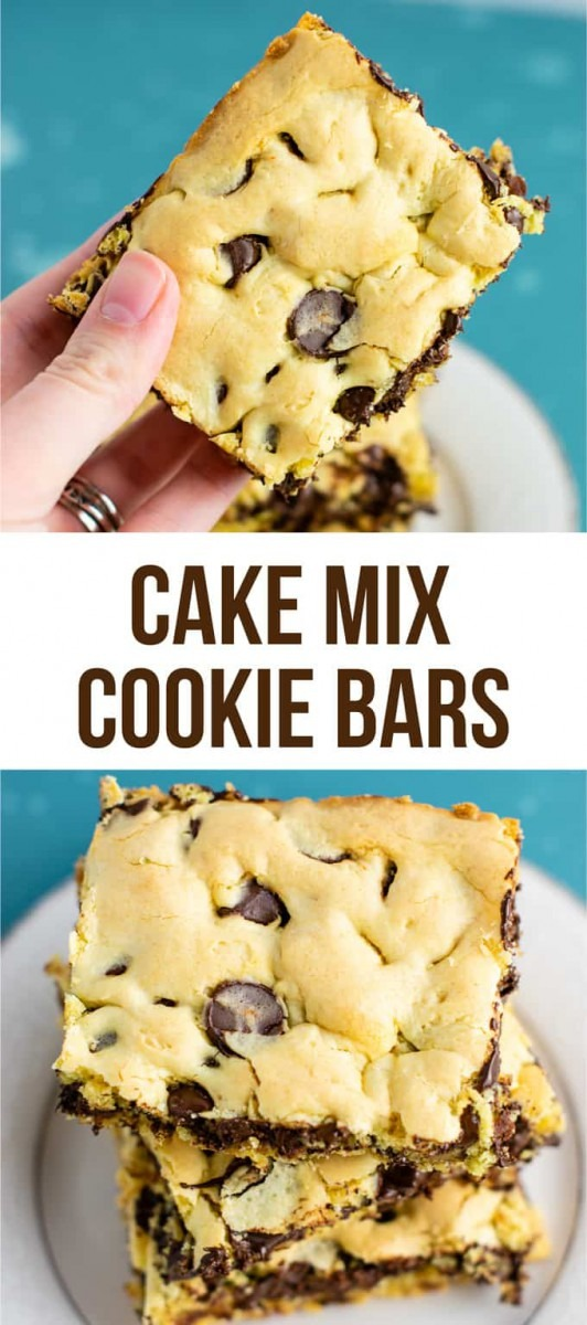 Easy Cake Mix Cookie Bars