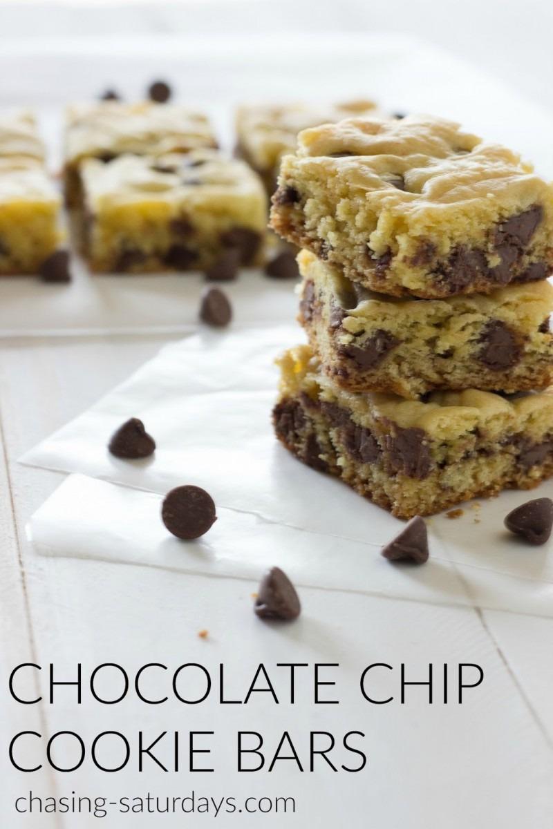 Chasing Saturdays  Chocolate Chip Cookie Bars