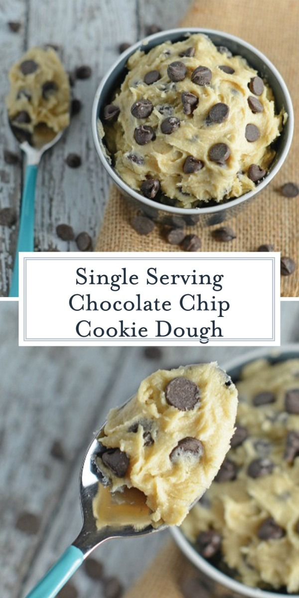 Single Serving Eggless Cookie Dough + Video