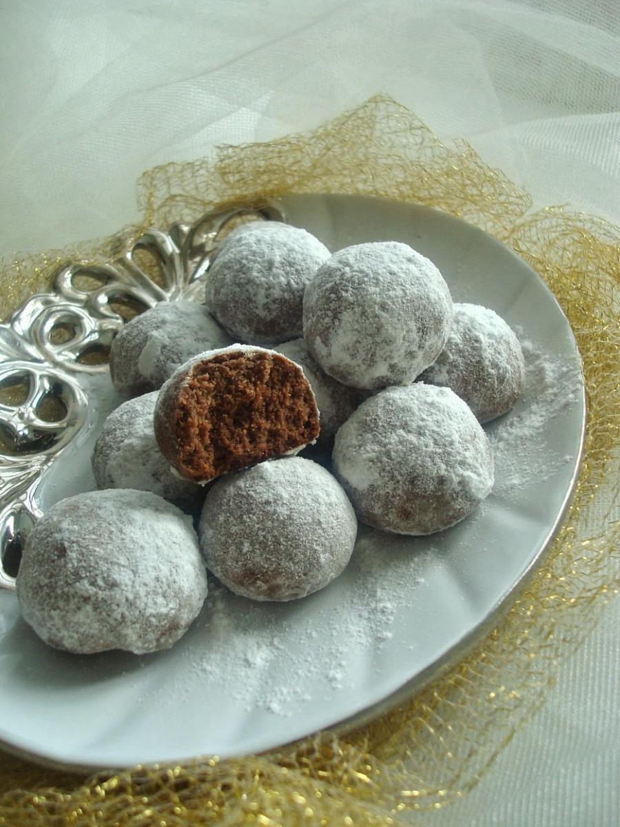 Cook Like Priya  Chocolate Snowball Cookies Recipe