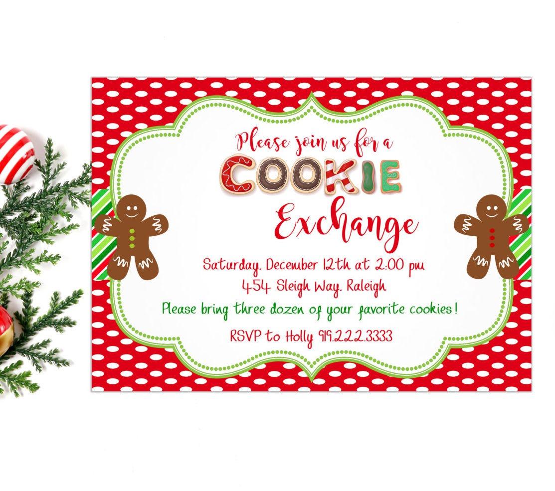 Cookie Exchange Invitation, Cookie Party Invitation, Cookies