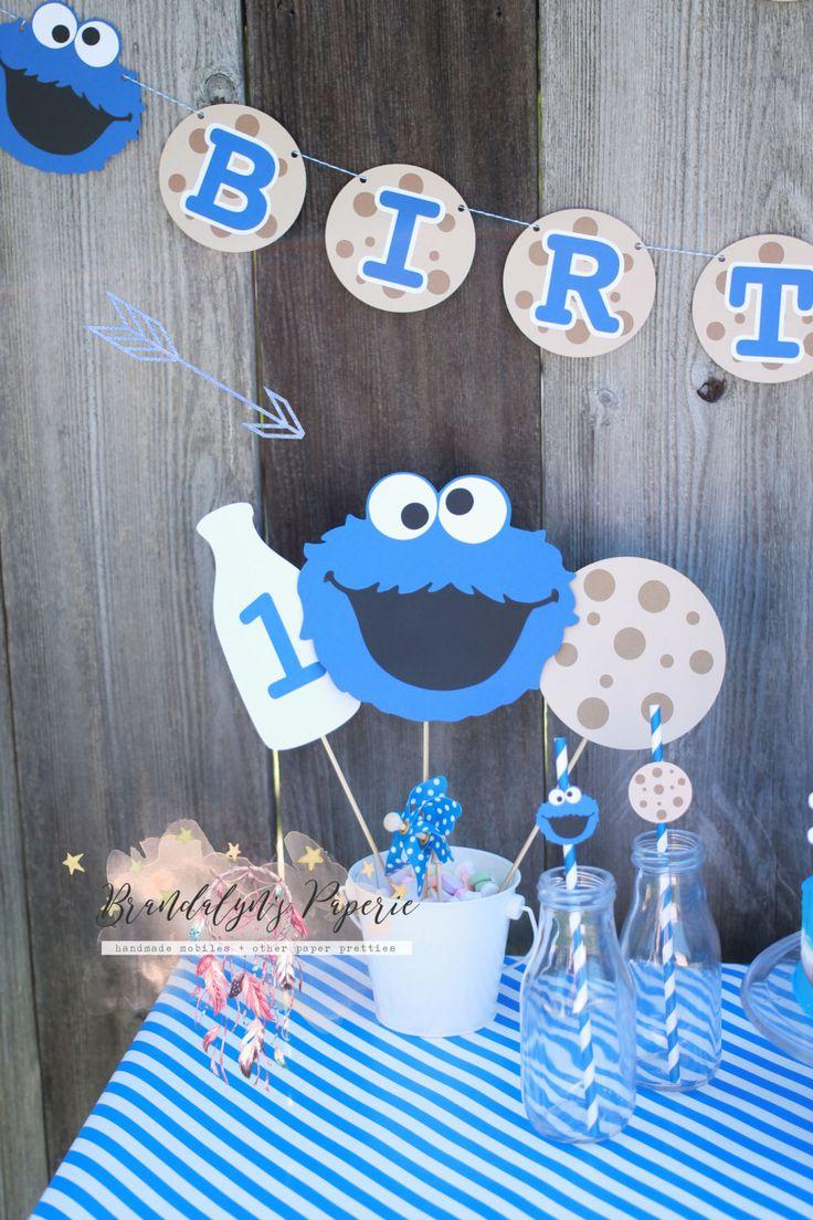 Stylish Cookie Monster Baby Shower Decoration Best Sesame Street