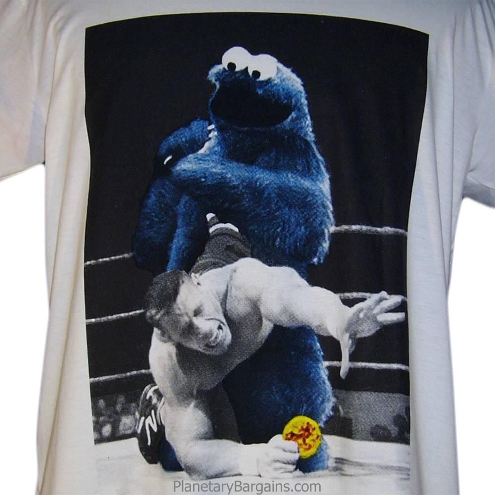 Cookie Monster Wrestling Shirt White
