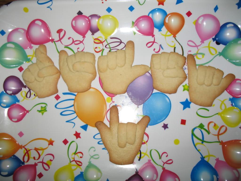 Fingerspelled Asl Cookies