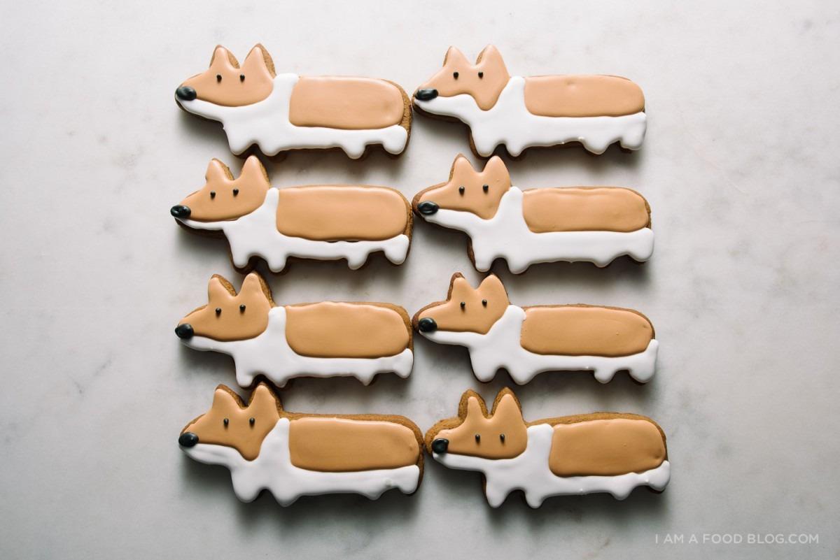 Gingerbread Corgi Cookies · I Am A Food Blog I Am A Food Blog